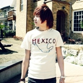 Picture of ISNOM Mexico Embroidered Short Sleeve T-Shirt 1022496953 (ISNOM, Mens Tees, South Korea)