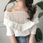 Off-Shoulder Short-Sleeve Blouse 1596