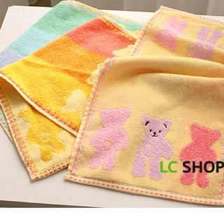 Bear Pattern Cotton Towel