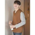 V-Neck Sleeveless Knit Top 1596