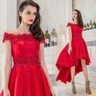 Off-Shoulder Mini Prom Dress 1596