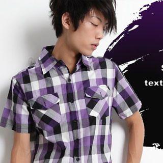 Buy SERUSH Plaid Shirt 1022997827