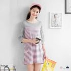 Long-Sleeve Striped Dress 1596