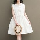 Frill Trim Sleeveless Dress 1596