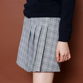 Check Mini Pleated Skirt 1052932985