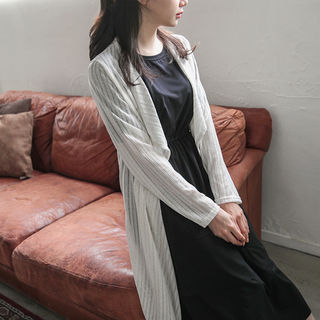 Open-Front Ribbed Cardigan 1059709424