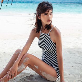 Striped Swimsuit 1057148385