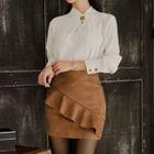 Set: Chiffon Shirt + Ruffled Skirt 1596