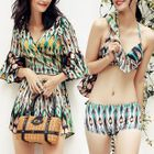 Set : Patterned Bikini + Cover-up 1596