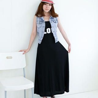 Picture of OrangeBear Printed Long Tank Dress 1023070282 (OrangeBear Dresses, Womens Dresses, Taiwan Dresses)