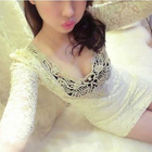 Elbow-Sleeve Lace Bodycon Dress 1596