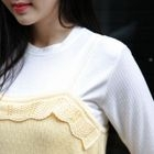 Short-Sleeve Ribbed T-Shirt 1596
