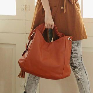 Tasseled Hobo Bag