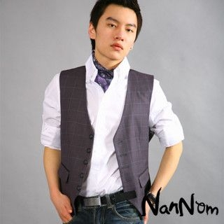 Picture of NanNom Check Vest 1022480619 (NanNom, Mens Tees, Korea)