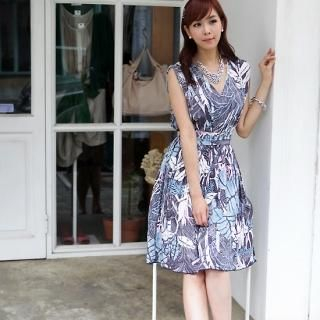 Buy IT GIRL STYLE Floral Print Sleeveless Dress 1023015148