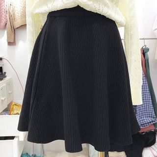 Ribbed A-Line Skirt 1063137605