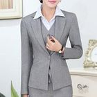 Set: Slim-Fit Blazer + Dress Pants + Dress Vest