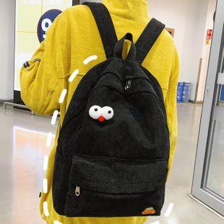 Image of Cartoon Eye Corduroy Backpack