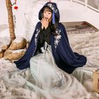 Embroidery Hooded Cape 1596