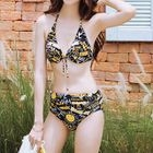 Set: Print Bikini + Lace Beach Cover-Up 1596