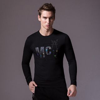 Print Long-Sleeve Slim-Fit T-Shirt 1053005306