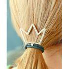 Rhinestone-Crown Elastic Hair Tie 1596