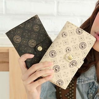 Snap-Button Printed Wallet