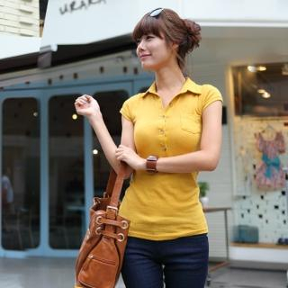 Picture of Celli Girl Short-Sleeve Polo Shirt 1023019837 (Celli Girl Tees, Womens Tees, South Korea Tees, Polo Shirts)