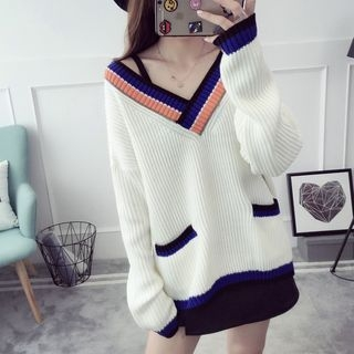 Striped Ribbed Sweater 1053091629