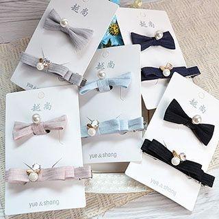 Set: Bow Hair Tie + Hair Clip 1050845786