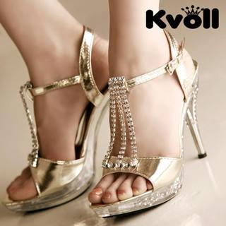 Buy Kvoll Diamante Patent Sandals 1022512387
