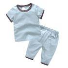 Kids Pajama Set: Short-Sleeve Top + Shorts 1596