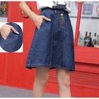 Panel Denim Mini Skirt 1596