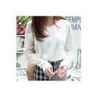 V-Neck Drop-Shoulder Knit Top 1596