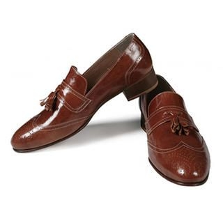 Picture of Purplow Wing Tip Slip-On 1012893967 (Slip-On Shoes, Purplow Shoes, Korea Shoes, Mens Shoes, Mens Slip-On Shoes)