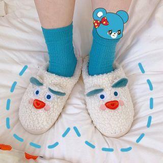 Cartoon Fleece Home Slippers