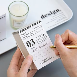 Calendar   Picture   Small   Desk   2020   Size   One