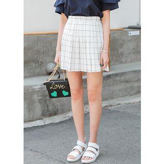 Checked Pleat Mini Skirt 1059605206