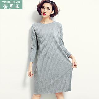 Ribbed Long-Sleeve Dress 1055150674