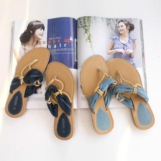 Picture of CLICK Denim Strap Flip Flops 1022859000 (Other Shoes, CLICK Shoes, Korea Shoes, Womens Shoes, Other Womens Shoes)