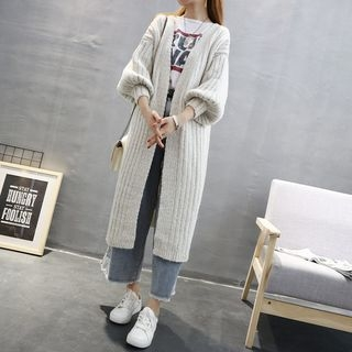 Ribbed Long Cardigan 1062601615