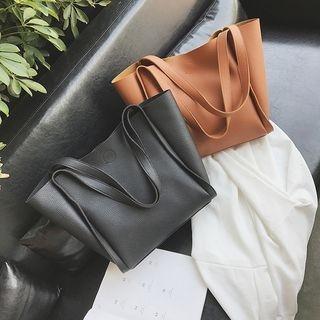 Faux Leather Tote Bag Set 1061365557