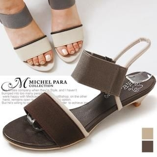 Picture of MICHEL PARA COLLECTION Banded Strap Slingback Sandals 1022943208 (Sandals, MICHEL PARA COLLECTION Shoes, Korea Shoes, Womens Shoes, Womens Sandals)
