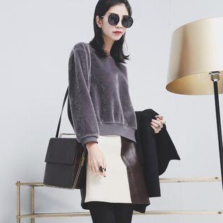Faux Fur Pullover 1055014118