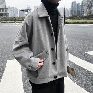 Plain Button Coat