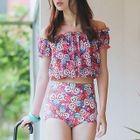 Set: Bikini + Floral Cover 1596