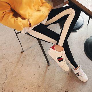 Contrast-Trim Ribbed Leggings 1056926385