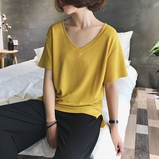V-Neck Short-Sleeve T-Shirt 1061761788