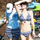 Patterned Couple Bikini Set / Beach Shorts 1596