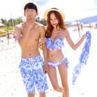 Set: Floral Bikini + Cover-Up / Beach Shorts 1596